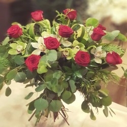 Ramo d72 Rosas y orquideas...